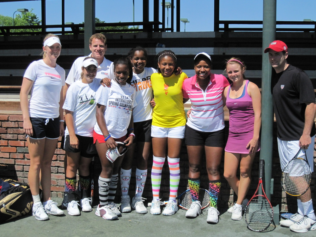 Mark Kovacs and Elite Female Tennis Players (Taylor Townsend, Vicky Duval, Sasha Vickery, Brooke Austin, Gabby Andrews)