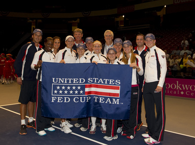 Mark Kovacs and US Tennis Fed Cup Team