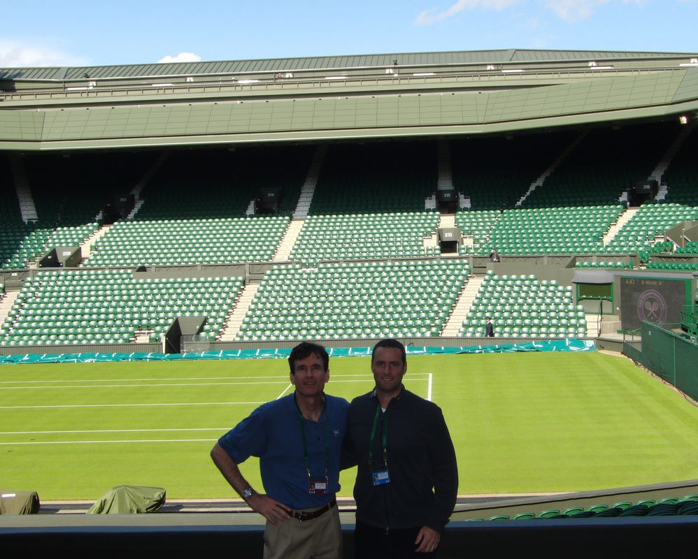 Mark Kovacs and Todd Ellenbecker at Wimbledon during ATP Talks