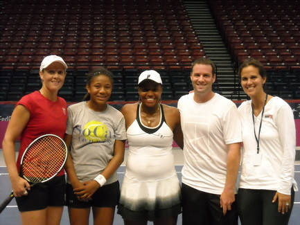 Mark Kovacs and Taylor Townsend and Liezel Huber, Gabby Andrews and Mary Joe Fernandez