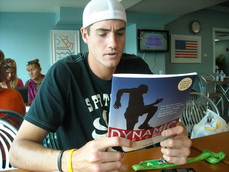 John Isner Reading Mark Kovacs' Dynamic Stretching
